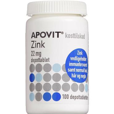 Ekstra Apovit Zink 100 stk depottabletter 22 mg Zink. køb til god pris her RX43
