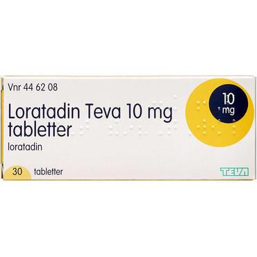 officiella bilder billigt till salu säljs över hela världen Loratadin Teva Tabletter 30 stk