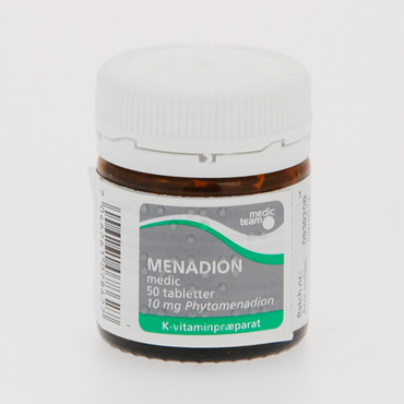 Menadion tabletter