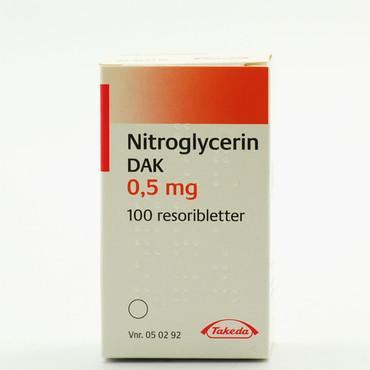Skatt Utleie Nitroglycerin Tabletter